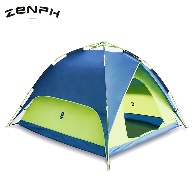 Zenph Camping Tents Outdoor 3-4 Persons Automatic Speed Open Waterproof Beach Hiking Double Layer Barraca