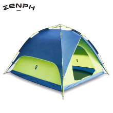 лучшая цена Zenph Camping Tents Outdoor 3-4 Persons Automatic Speed Open Tents Waterproof Beach Hiking Tents Double Layer Tents Barraca