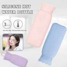 Microwave Heating Bottle Environmental Silicone Hot Water Bag with Knit Cover Heat/Cold 2-Use YU-Home(China)