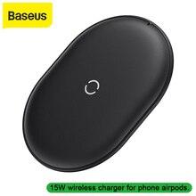 Chargeur sans fil Baseus 15W Qi pour iPhone 11 Pro X Xs Xs Max XR Samsung chargeur sans fil chargeur rapide pour airpods earpods