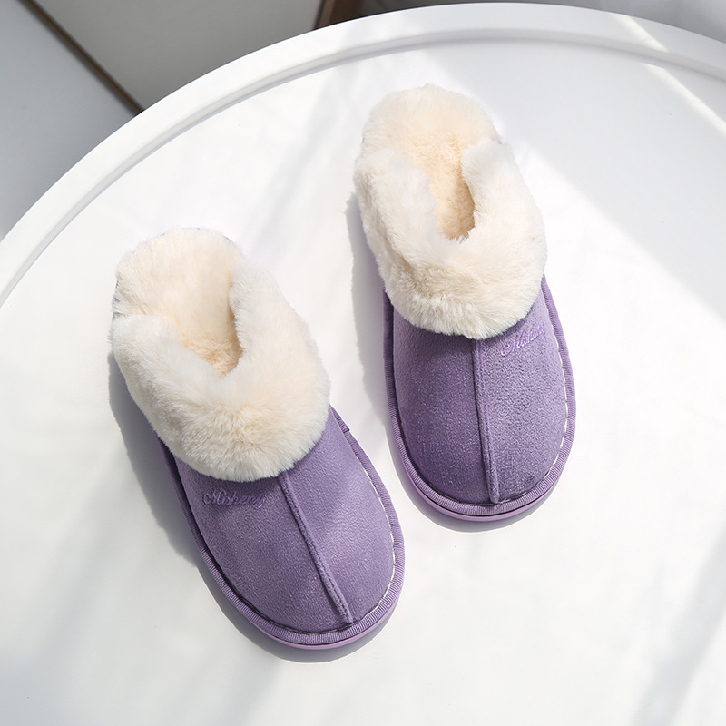 2019 Fashion Winter Women Slippers Ladies 5 Color Prints Fur Warm Slides Indoor Soft Shoes Girls Winter Spring Warm Shoes