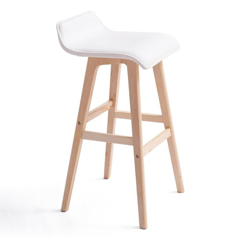 Simple Real Wood Bar Chair Creative Bar Chair European Bar Bench Bar Chair Simple Retro Bar Bench High Foot Bench