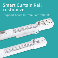 SEASKY Electric Automatic Smart curtain track Rails customize for Aqara B1motor remote control support Xiaomi Mi Home App