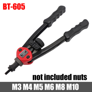 HIFESON nakrętka nitu narzędzia wkładka ręczny Riveter nakrętka gwintowana nitowania Riv narzędzie do nakrętek do orzechów M3 M4 M5 M6 M8 M10 M12