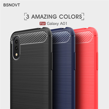 Soft Carbon Fiber Case For Samsung Galaxy A01 A41 M31 M21 M30S Cover Shockproof Brushed Phone Bumper For Samsung A11 A21 Case