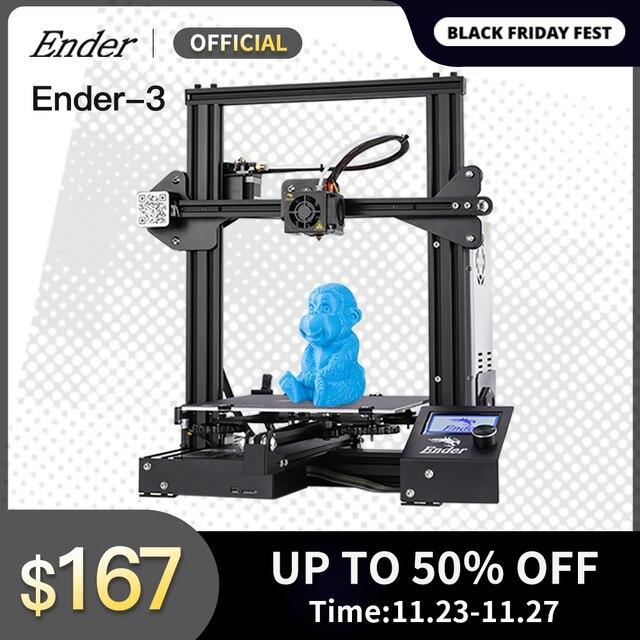 2019 Ender 3/Ender 3X 3d 프린터 diy 키트 대형 프린터 3d 연속 인쇄 power. magnetic plate creality 3d ender 3