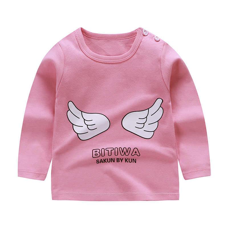 秋の新子供着用男の子長袖tシャツコットン子供たちの手紙プリントの服