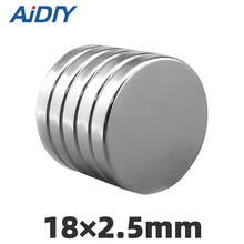 AI DIY 5Pcs/lot 18 x 2.5mm N35 Neodymium Round Magnet Super Strong Powerful Small Wholesale Rare Earth Magnets Disc 18*2.5mm