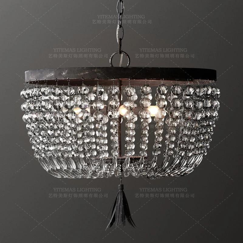 Small Vintage Crystal Bead Chandelier Lighting Retro Chandelier Industrial Hanging Lights Kitchen Bedroom Indoor Light Fixture Chandeliers Aliexpress