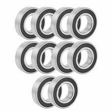 10PCS 25mmx47mmx 12mm Rubber Seal Deep Groove Radial Ball Bearing 6005RS