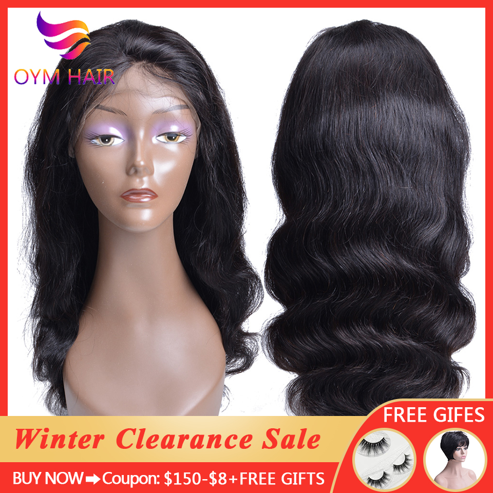 Peruvian Body Wave Lace Front Wig With Baby Hair Non-Remy Hair Wigs For Black Women 13*4 Lace Front Human Hair Wigs 150%