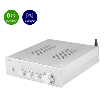 BRZHIFI TPA3255 Sound Amplifier 300W*2 Bluetooth 5.0 High Power HIFI Stereo Amplifiers Class D Audio Digital Tone Control Amp
