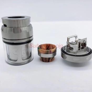 QP Designs – mini RTA atomiseur remplaçable, réservoir de 24mm, 2.0ml/4.5ml, Top flux d'air, résine 810 de Signature, embout goutte à goutte