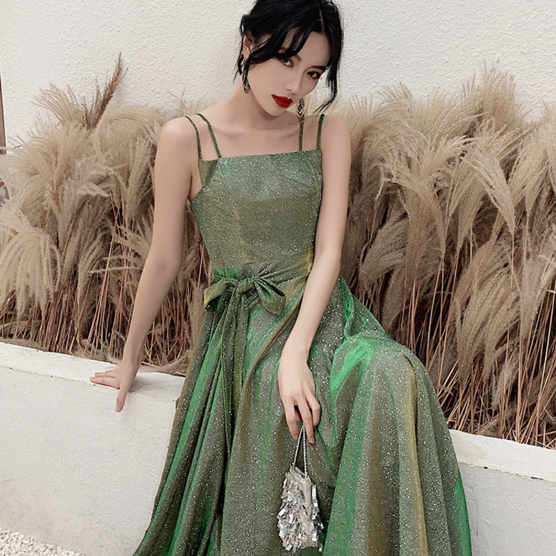 Vestidos Celebrities Tapete Cozinha Small Dress Usually Can Wear 2020 New Autumn And Winter Long Banquet Celebrity Slim Host