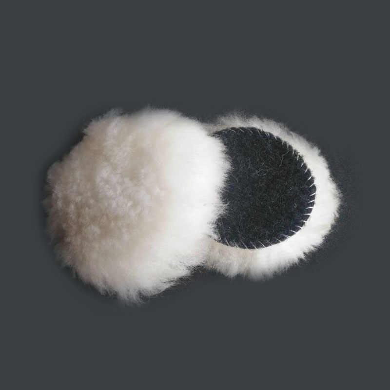 Carro Beleza Polimento da la 4-Polegada qiu Placa Roda de Lã Bola de Lã Bola de Lã de Polimento De Carro Cera de Polimento roda