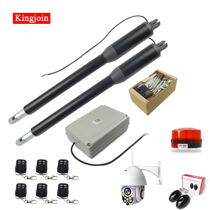 KINGJOINwith outdoor monitor automatic casement door opener motor double arm gate opener operator linear actuator access control