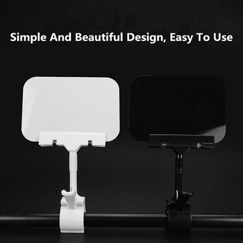 Plastic Merchandise Sign Clip With Erasable Board Rotatable Pop Clip-on Holder Stand Price Display Holders Tag Clip Holders