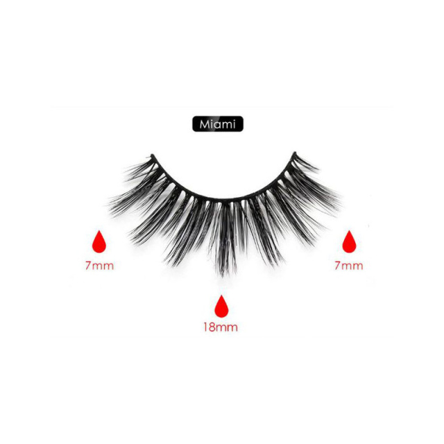 Magnetic Eyeliner Eyelashes Set Natural Thick Handmade No Glue Prevent Allergy Magnetic Fake Eyelashes With Eyelashes Applicator 4