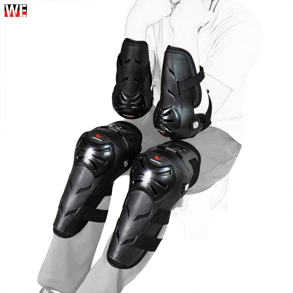 WOSAWE Adult Motorcycle knee pads Moto Protection Riding Elbow Guard Motocross Motorbike Off-Road Racing MTB Knee pads