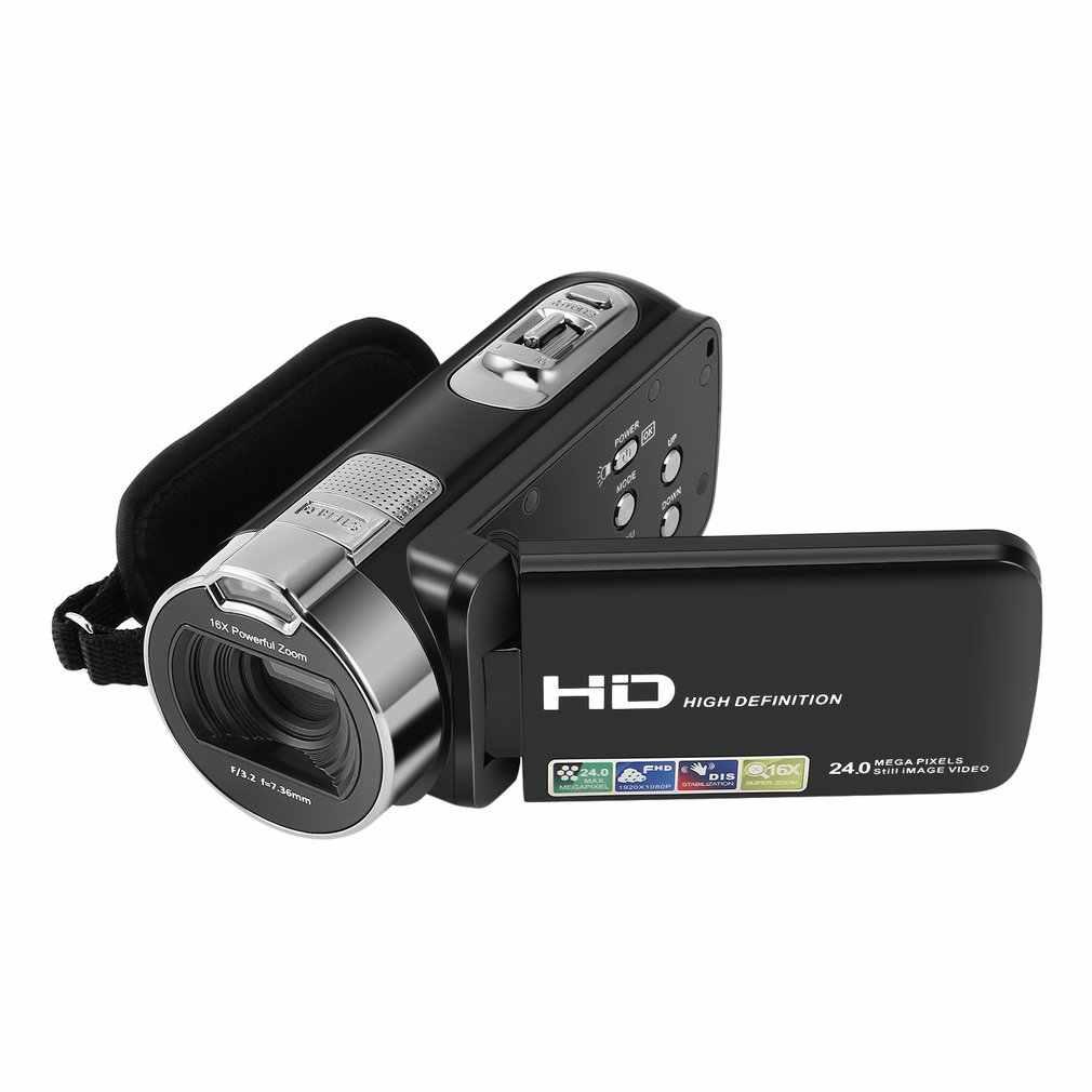 Máy Ảnh Kỹ Thuật Số Máy Quay Phim 1080P 24 MP 16X Mạnh Zoom Kỹ Thuật Số Màn Hình LCD 2.7 Inch Ổn Định Với 270 Độ Xoay Màn Hình
