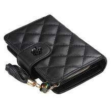 2019 Luxury Brand Leather Wallets Women short  Zipper Coin Purses Fold
