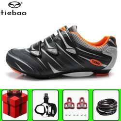 Tiebao Road Fietsschoenen Mannen Sneakers Professionele Fiets Voeg Pedaal Set Dragen Outdoor Atletische Fiets Comfortabele Fietsslot Schoenen