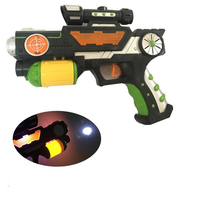 Children Electric Toy Gun Shining Music Toy Flash Projection Gun With 8 Image Projection Gun