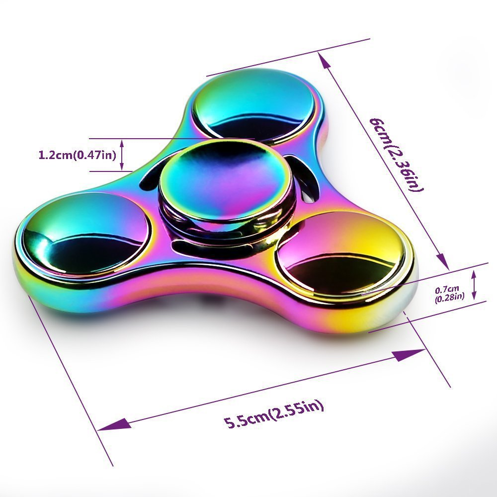Flashing LED Fidget Spinner Gyroscope Combined Relieving Anxiety Funny Toy Multipurpose Pencil  Flowtoy  Slinky Finger Gyro  5-7