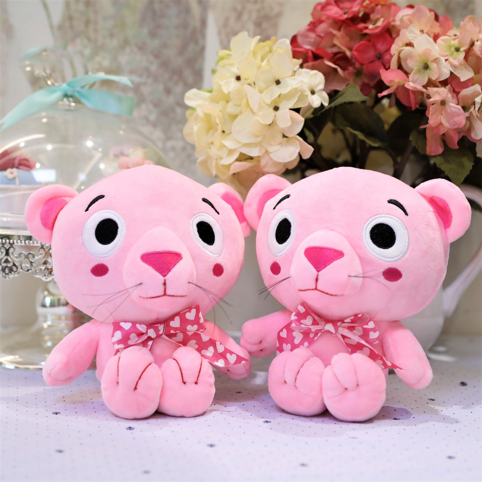 Pink Bear 20cm Boutique Doll PP Cotton Stuffed Animal Plush Dolls Plush Toy Anime Plush Toys Birthday Gifts for Kids Girls