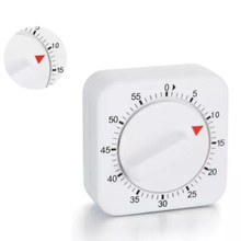 60 Minutes Kitchen Timer Count Down Alarm Reminder White Square Mechanical Timer For Kitchen Home Baking Cooking Tools