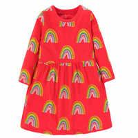 Jumping Meters bebé otoño primavera Arco Iris niñas vestidos encantador disfraz de princesa fiesta oferta vestido de cumpleaños