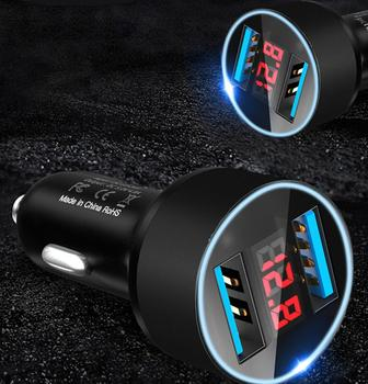 3.1A Dual USB Car phone Charger for radio 2 din android volvo v70 bmw e61 skoda rapid fiat bravo subaru image