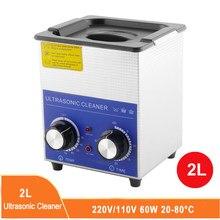 2l ultra sônica máquina de lavar roupa banho óculos jóias relógio dentadura mini ultrassom onda tanque limpeza com aquecedor temporizador