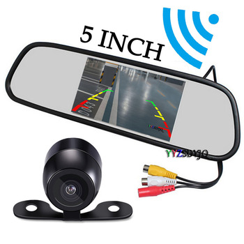 5 inch Car HD Rear View Mirror Monitor CCD Video Auto Parking Assistance Night Vision Reversing Rear View Camera smartour hd ccd fisheye lens rear view camera ahd 1080p night vision backup parking waterproof for reversing monitor