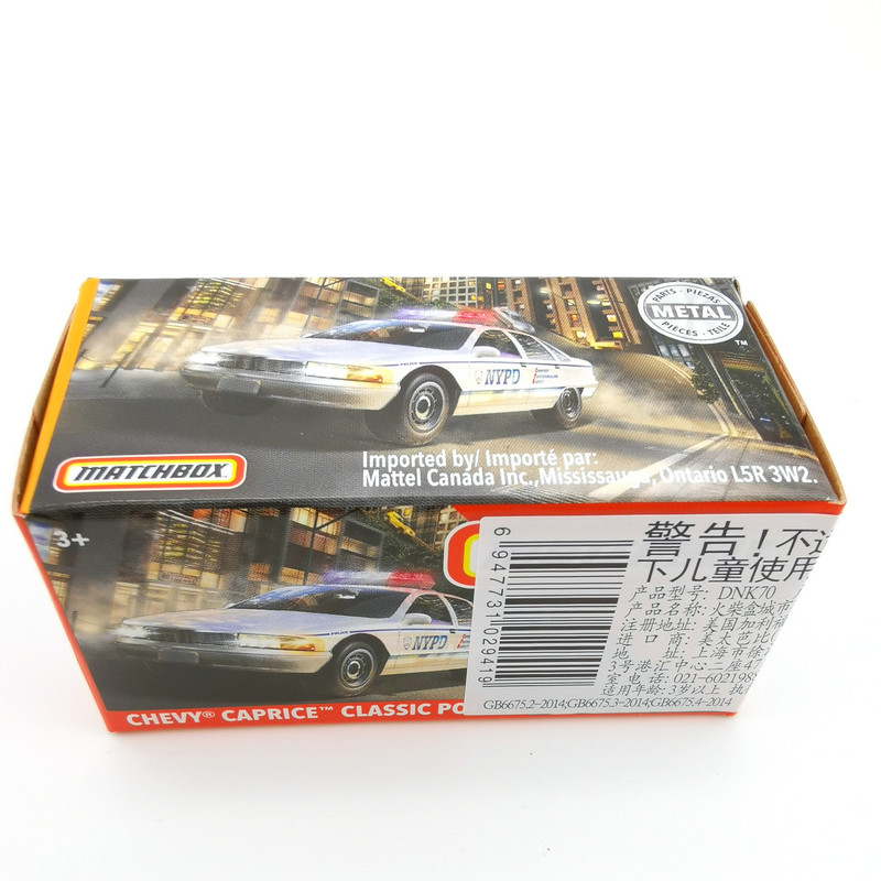 2020 Matchbox Cars 1:64 Car CHEVY CAPRICE CLASSIC POLICE Metal Diecast Alloy Model Car Toy Vehicles