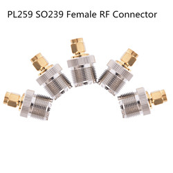 1pc SMA Male Plug to UHF PL259 SO239 Female RF Connector Adapter Cable