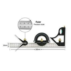 Image 2 - חדש 300 mm נירוסטה multi פונקצית מד זווית שליט רב שילוב כיכר זווית Finder זווית מד כלי