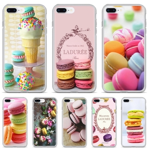 dessert ice cream laduree Macarons For Huawei P8 P9 P10 P20 P30 P Smart 2019 Honor Mate 9 10 20 8X 7A 7C Pro Lite Soft Cover Bag