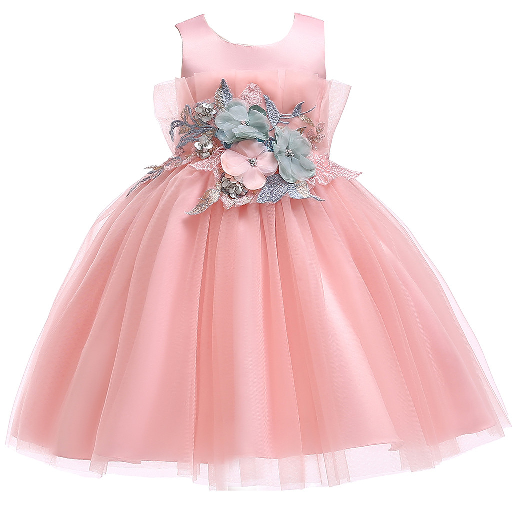 Toddler Baby Girls Swan Tutu Tulle Dress Party Wedding Princess Dresses 0-24M