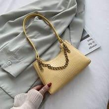 Женские винтажные сумки из искусственной кожи с крокодиловым
