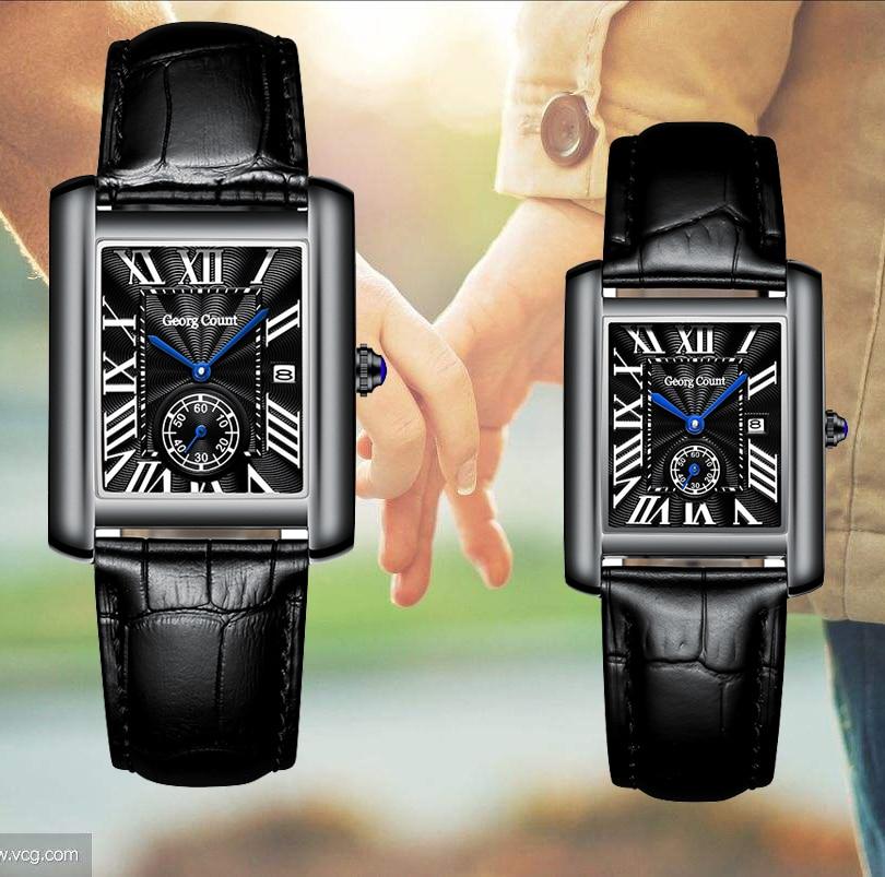 Retro Elegance Couples Watch For Lovers Business Luxury Men&Women Quartz Wristwatches Clock Waterproof Lover Watch Wedding Gifts