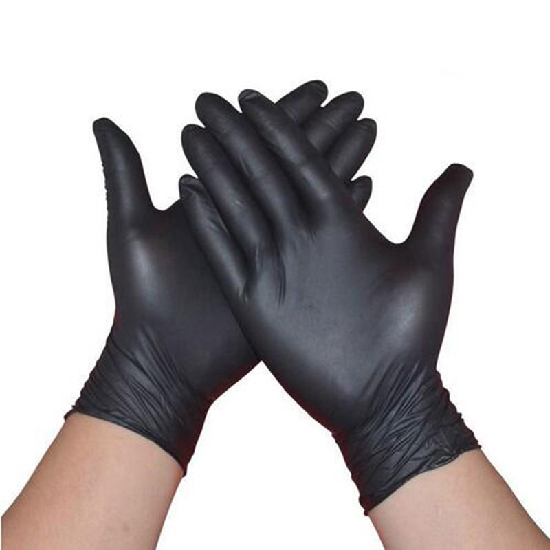 100pcs 4Colors Wear-Resistant Durable Nitrile Disposable Gloves Rubber Latex Food Household Cleaning Gloves Anti-Static