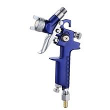 1pc Professional 1.0mm Nozzle H2000 Blue Aluminum alloy Air Paint Spray Tool 125ml Watering Can 168*93mm Car repair tools