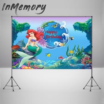 InMemory Photography Backdrop Under the Sea Ariel Princess Little Mermaid Rocks Corals Custom Photo Studio Background Photocall