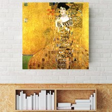 Golden Tears Gustav Klimt Reproduction Canvas Painting Print Adele Blochbauer Woman Portrait Wall Art Picture for Home Decor