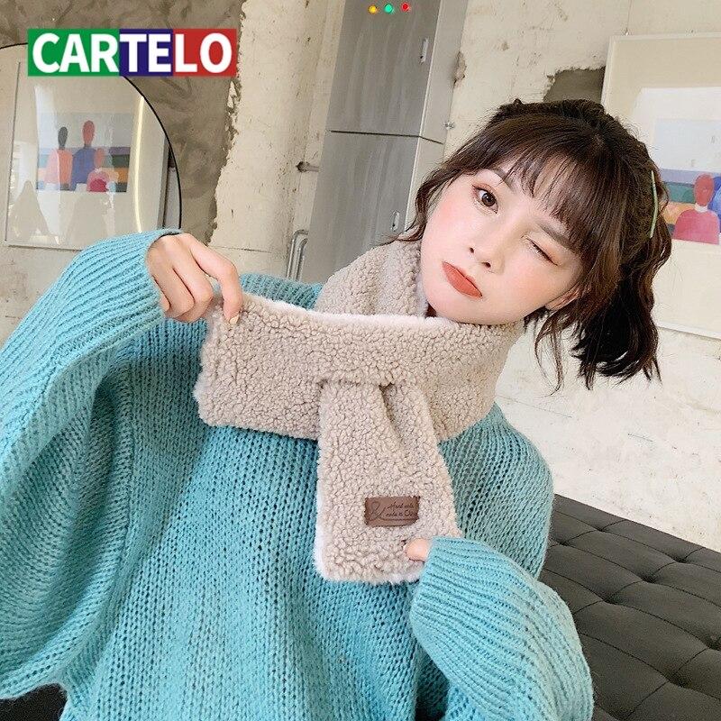 CARTELO-pañuelo nuevo de Cachemira para mujer, bufanda femenina de color sólido, salvaje delgada cuello alto, bufanda sencilla a la moda, babero