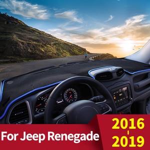 For Jeep Renegade 2016 2017 2018 2019 LHD Car Dashboard Cover Dash Mat Sun Shade Pad Carpets Trim Non-slip Interior Accessories(China)