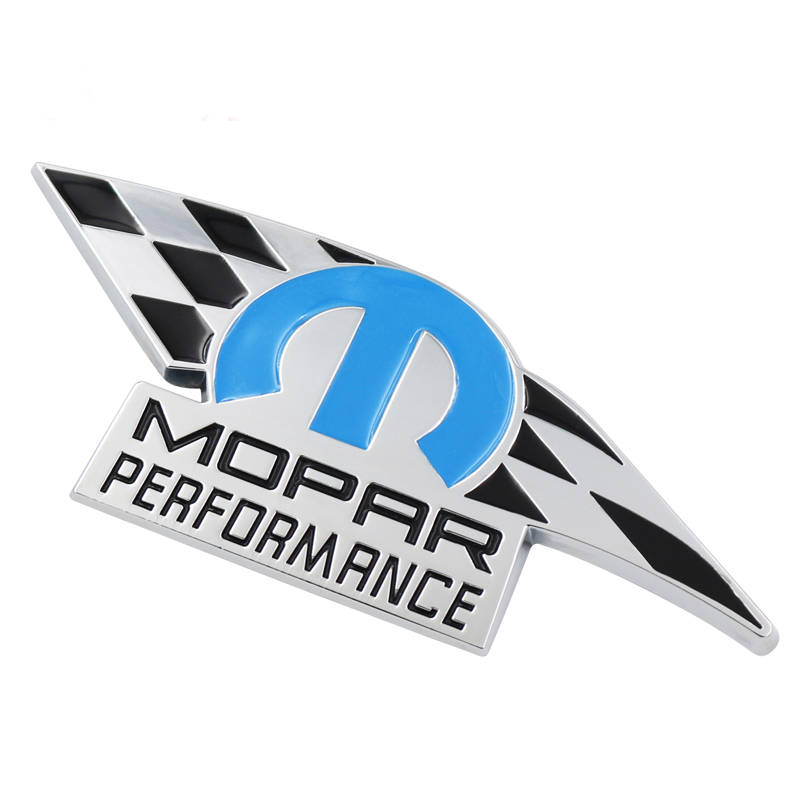 1pcs 3D Metal Mopar Performance Car Emblem Decal Sticker Truck For Dodge Ram Charger 2011-2012 JEEP Chrysler Car Fecoration