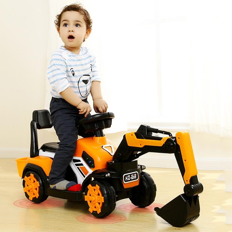 Enfants excavatrices tracteurs jouets rideable garçons surdimensionnés véhicules de construction enfants en plein air tout-terrain voiture outils de circulation cadeaux