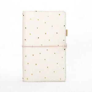 Image 4 - Piękny pamiętnik prezent dla Girlfrend, TN standardowy dziennik Travler Notebook, spiralny PU gruby kieszonkowy rozmiar dziennik z terminarzem